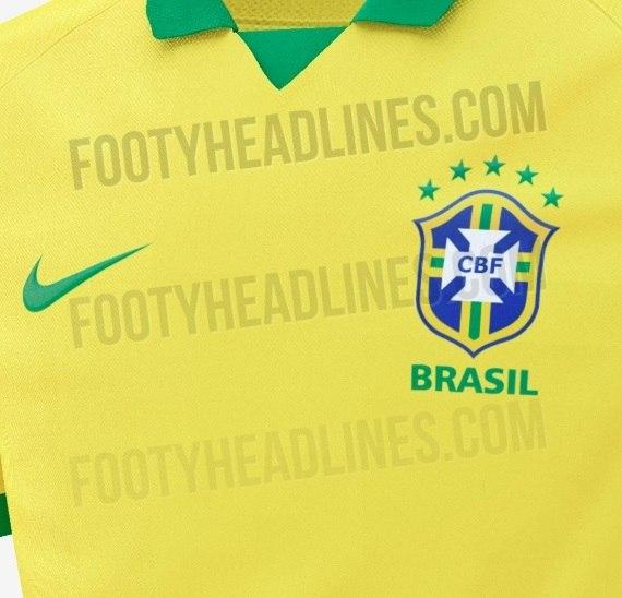 Site vaza camisa que será usada pela seleção brasileira em 2019 - Esportes  - R7 Futebol 3a7bbd20dca83