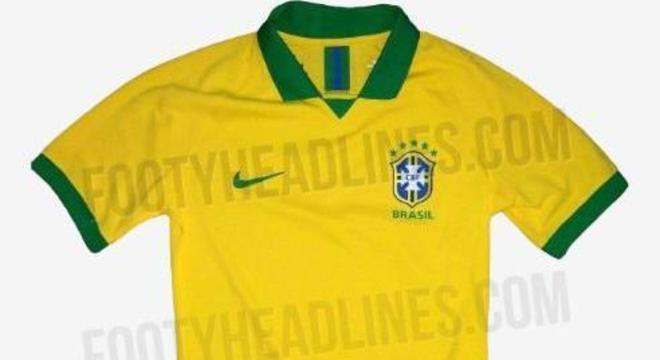 Provável camisa 1 da seleção para Copa América tem fotos reveladas ... 49b56ce2026b1