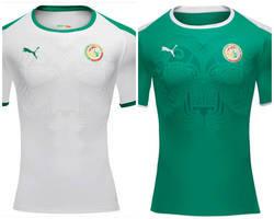 ... As camisas de Senegal contam com o desenho de um leão na frente  estilizado na cultura ... 02d913b2464c9