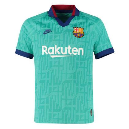 Camisa third Barcelona 2019/2020 - Mais uma vez o verde-água em camisa que lembrou muito a utilizada pelo Barça ainda no final século passado
