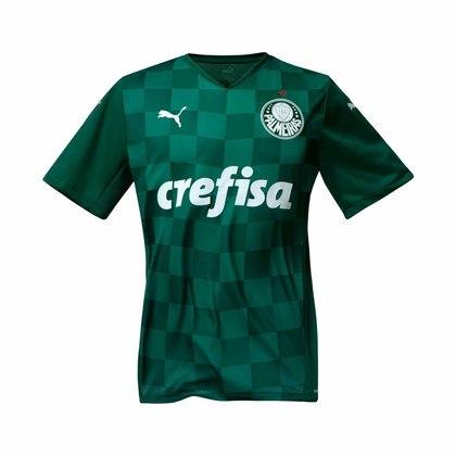 Camisa verde, quadriculada, é o modelo de 2021.