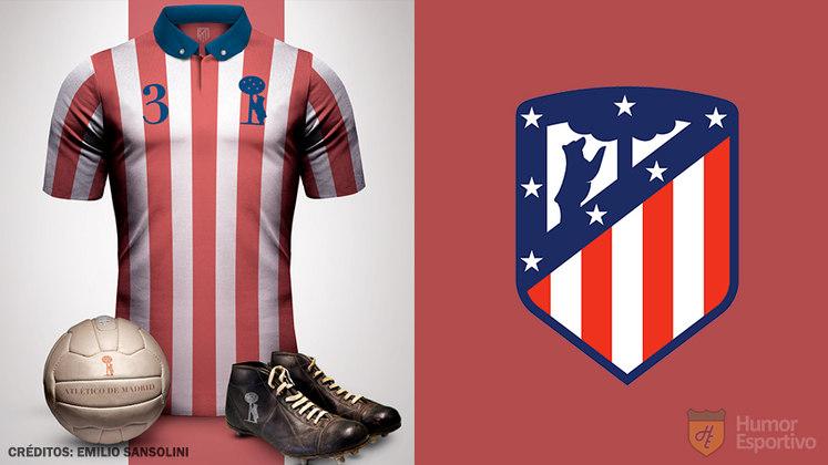 Camisas clássicas do futebol: Atletico de Madrid