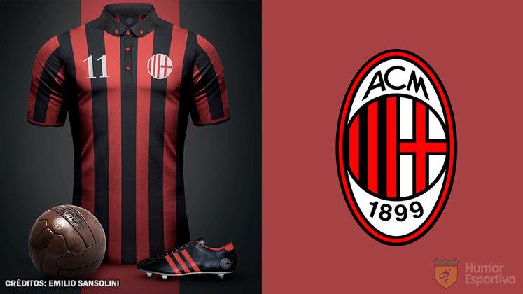 Camisas clássicas do futebol: Milan