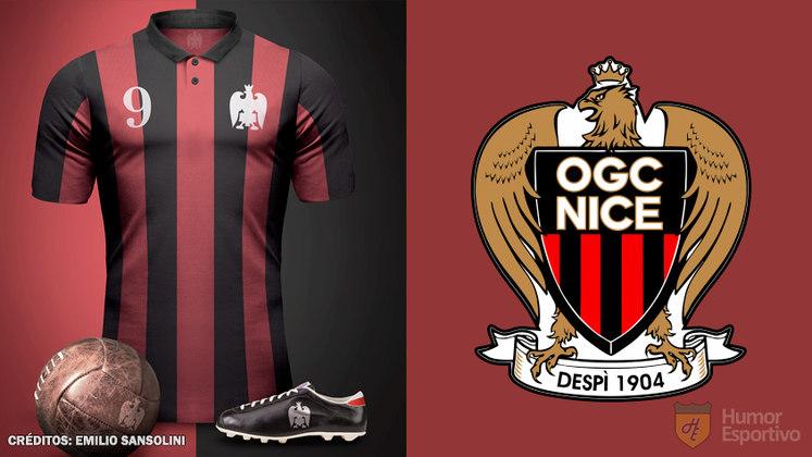 Camisas clássicas do futebol: Nice