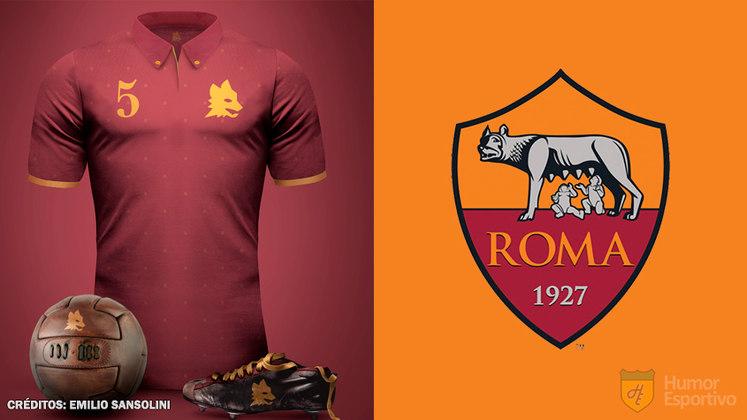 Camisas clássicas do futebol: Roma