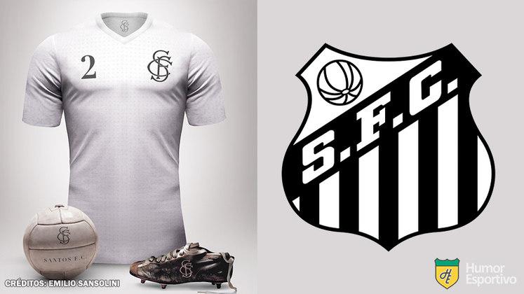 Camisas clássicas do futebol: Santos