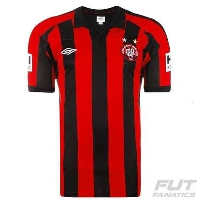 Camisas dos times da atual Serie A em 2010: Athletico-PR