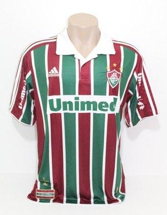 Camisas dos times da atual Serie A em 2010: Fluminense