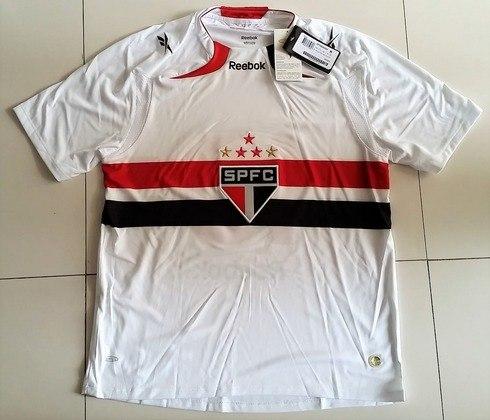 Camisas dos times da atual Serie A em 2010: São Paulo