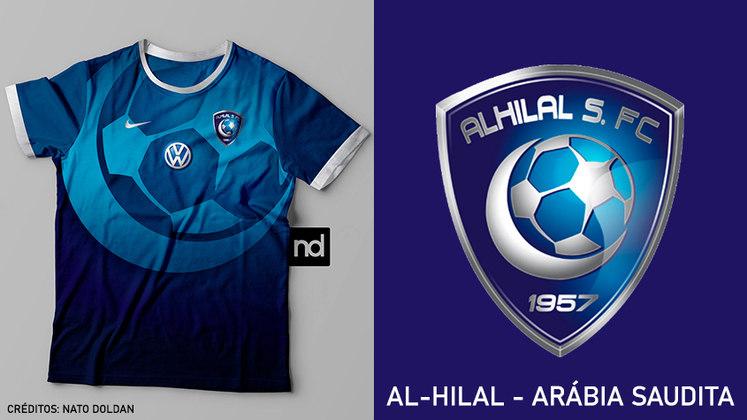 Camisas dos times de futebol inspiradas nos escudos dos clubes: Al-Hilal