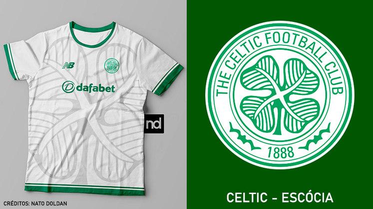 Camisas dos times de futebol inspiradas nos escudos dos clubes: Celtic