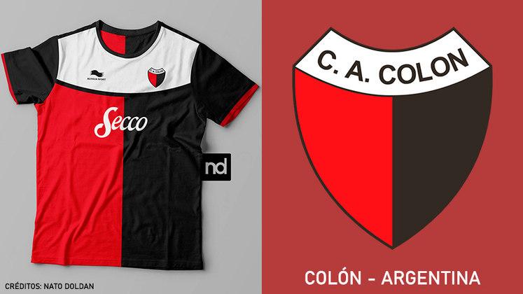 Camisas dos times de futebol inspiradas nos escudos dos clubes: Colón