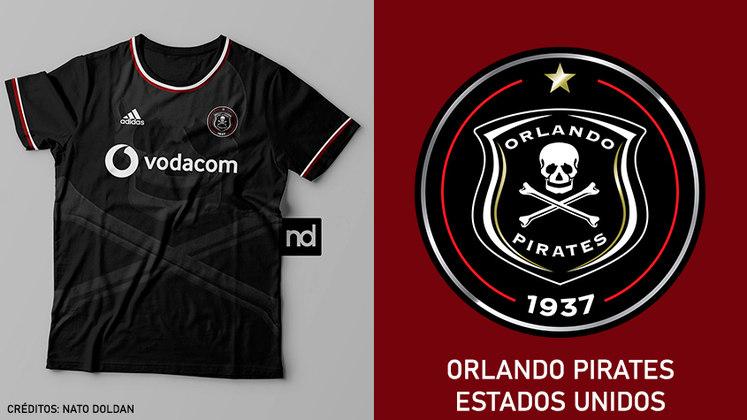 Camisas dos times de futebol inspiradas nos escudos dos clubes: Orlando Pirates
