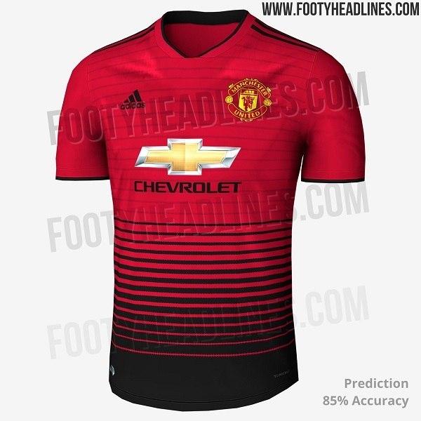 f383b4a8162e8 ... A camisa 1 do Manchester United leva listras horizontais na cor preta  ...