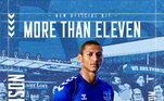 Equipe de Richarlison, o Everton parece ter mudado a tonalidade do azul na camisa