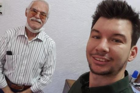 Sr. Pedroso e Renato Dias que postou o vídeo