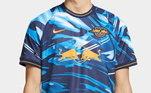 O Red Bull Leipzig vem com uma camiseta bem diferente, com detalhes camuflados