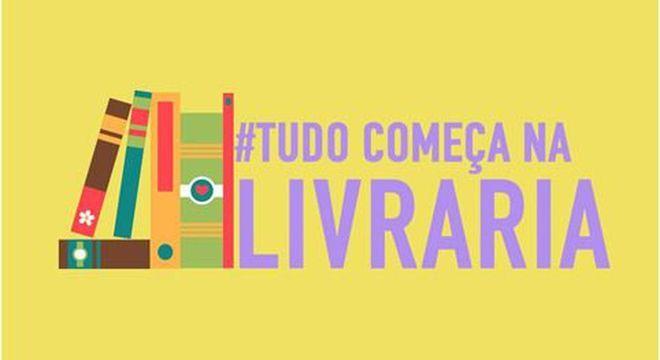 Com o mote #TudoComeçaNaLivraria, a campanha visa resgatar o hábito da leitura