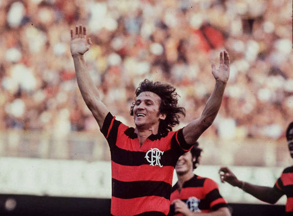 Campeão em 1981 e maior ídolo do Flamengo, Zico marcou 16 gols em 20 jogos.