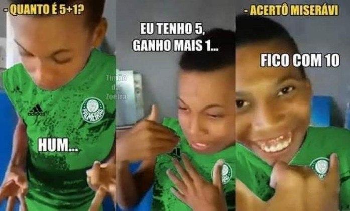 Campeão por fax? A contagem de títulos brasileiros do Palmeiras é sempre alvo de memes dos rivais