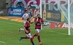 Sempre perigoso, Gabigol marcou dois gols em dois minutos para o Flamengo