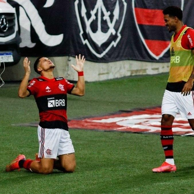 João Gomes comemora 1º gol como profissional e que garantiu o título do Fla