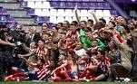 A última vez que Atlético de Madrid — clube que tem entre seus ídolos craques brasileiros, como Luís Pereira e Leivinha, ex-Palmeiras — havia levantado a taça do Campeonato Espanhol havia sido na temporada 2013/14