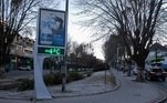 Com outros pontos da cidade registrando -4ºC, as ruas ficaram vazias