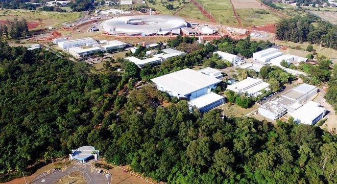 Imagem aérea do campus do Centro Nacional de Pesquisa em Energia e Materiais (CNPEM), em Campinas