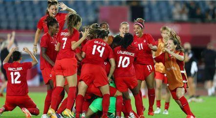 Canadá se classificou após vencer o Brasil nos pênaltis