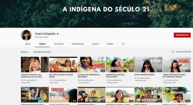 Como uma jovem voz indígena, Ysani tem mais de 270 mil inscritos no Youtube
