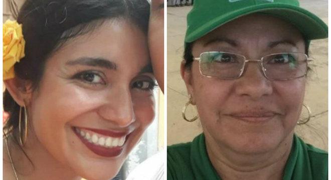 Pamela Pineda (esq.) e Juana Maldonado (dir.) foram assassinadas no sábado