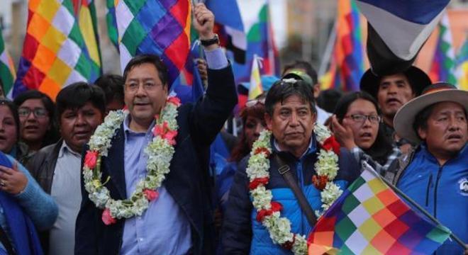Luis Arce, candidato de Evo Morales, venceria ainda em primeiro turno