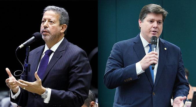 Candidatos à presidência da Câmara, Arthur Lira (PP-AL) e Baleia Rossi (MDB-SP)