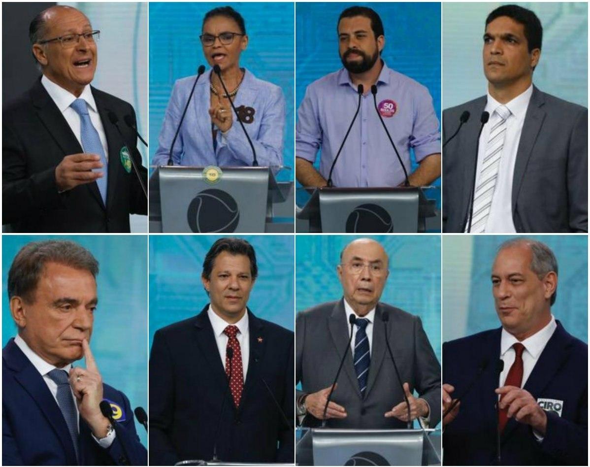 Oito candidatos à Presidência participaram do debate na RecordTV neste domingo