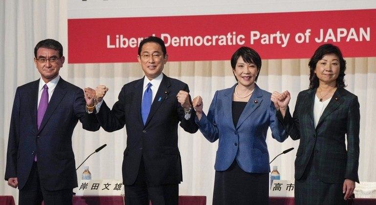 Quatro candidatos aspiram a liderança do partido que governa o Japão