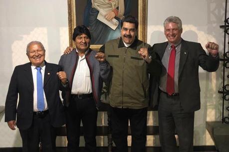 Canel Díaz e Evo Morales acompanharam Maduro