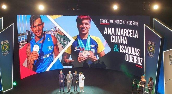 Canoísta e nadadora de maratonas ganham prêmio do COB pela terceira e segunda vez, respectivamente Crédito: COB / Divulgação CP