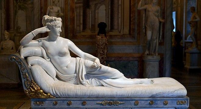 Peça danificada era um dos estudos de Canova para a escultura Paolina Borghese