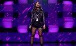 A jovem Ciça Moreira, de 13 anos, é fã do rock raiz e as influências musicais são visíveis em sua escolha de look: ela apareceu toda de preto (até no batom!), botas pesadas e vários acessórios de correntes