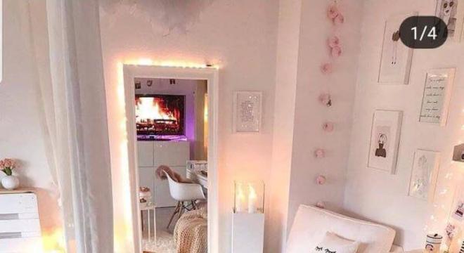 cantinho da leitura no seu quarto rosa