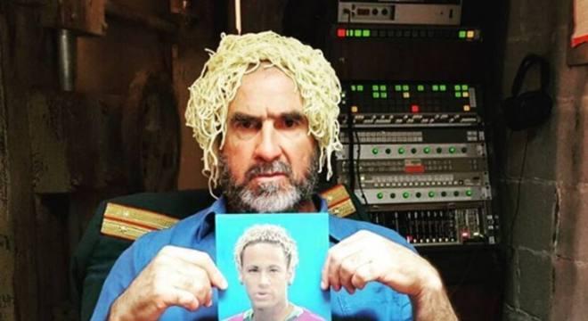 Cantona, um dos maiores ídolos franceses, ironiza o cabelo de Neymar na Copa