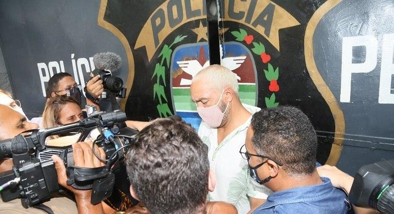 Na saída da Polinter, Belo não falou com a imprensa