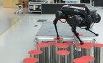 Em um experimento, o robô foi capaz de andar por um conjunto de postes com alturas irregulares e espaçados de maneira aleatória