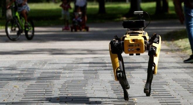 Robô de quatro patas, movimentado por controle remoto e feito pela Boston Dynamics