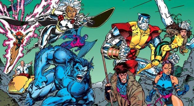 Capa de HQ dos X-Men de 1991