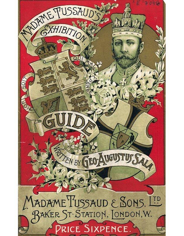 Capa do catálogo da exposição de Madame Tusssaud e filhos na Baker Street
