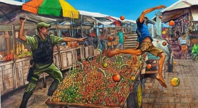 A ilustração que foi censurada em Belém, capa do álbum 'Castanha do Pará'