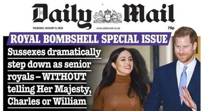 No dia 9, a capa do tablóide Daily Mail acusava o casal de um 'abandono dramático'