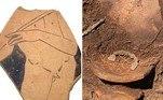 Junto do item extraordinário, os arqueólogos também encontraram armas de ferro, diversos itens menores e os restos mortais de uma mulher, inumada com uma pulseira de bronze